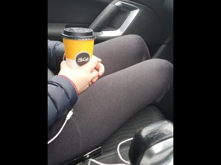 Step mom make step son cum in her coffee after fuck in the car