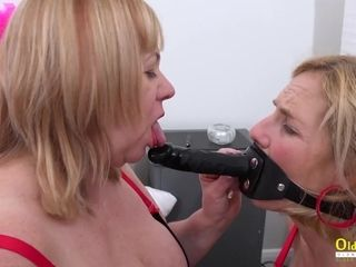 Two Heavy-Breasted Mommy Lesbians Play Horny Games