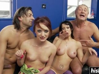 Dirty four-way hook-up soiree