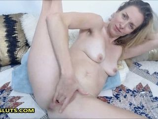 My horny step-mom gets horny on livecams