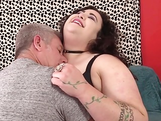 Bbw bi-atch Moon Baby Has Her a-hole spread by an aged dude