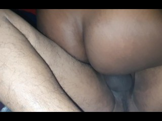 Sexy Ebony Wife Squirting on Big Cock having a Multiple Orgasm Riding - Must Watch