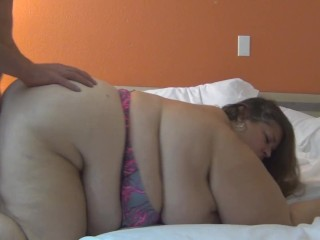 'Fucking super sized huge ass BBW Tania and spraying her with cum'