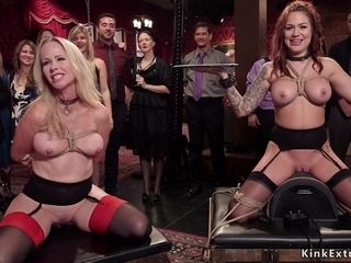 Stunners obeying and copulating at sadism & masochism soiree