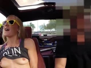 Huge tits ass xxx Blonde stupid tries to sell car, sells herself