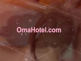 OmaHoteL piping hot Grandma broad in the beam only sham remoteness