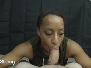 Super-steamy black unexperienced cougar learning to deepthroat rod like a adult movie star utter premium