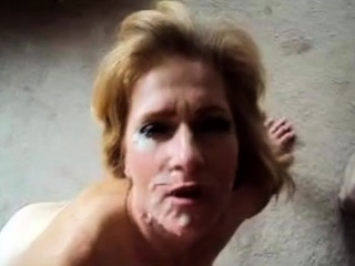 Wifey nails and takes XXL facial cumshot