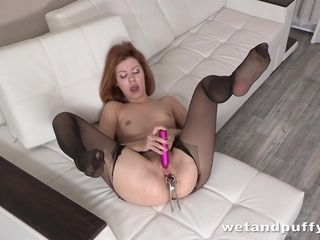 Torn tights - Solo anal invasion and More