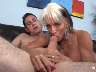 Sally D Angelo Helps Her Grandson Learn The Art Of boinking