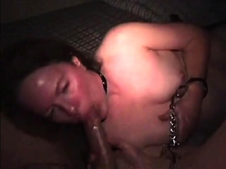 LEASHED CUFFED STONED MILF 50 SUCKS OFF TWO 20 YEAR OLDS