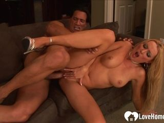 Platinum-blonde Hair nymph mummy with yam-sized joybags gets had fuck-fest
