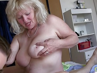 OldNannY Matures Playing with Hardened Cock