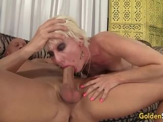 Blond Dalny Marga bashed and spunked