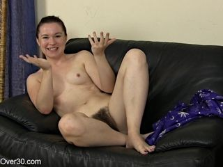 Fledgling wifey with unshaved cunny
