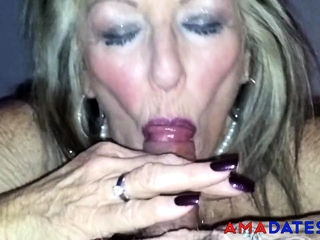 Aged brit call girl deep throat 2