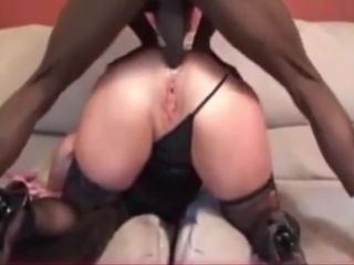 BLACK COCK IN ASS MAKES WHITE WIFES SQUIRT
