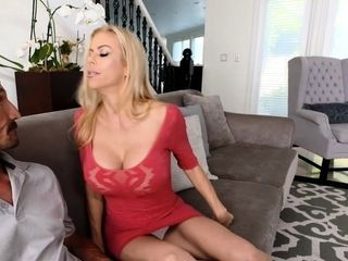 Monstrous knockers lonely housewife cuckold on her hubby