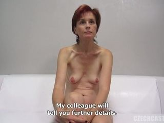 Smallish breasted cougar At the pornography audition
