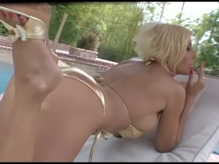 Puma Swede Smoking and Relaxing by the Pool