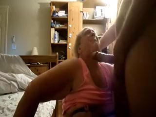 Granny engulfing and takes a faical