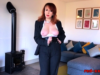 Brit mature crimson will do anything to sell this palace
