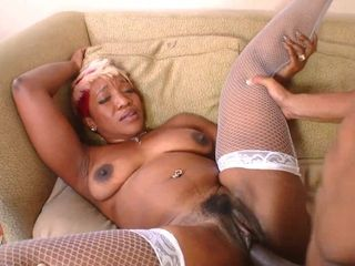 Dark-hued mature mega-bitch hard-core