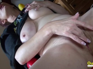 OldNannY Solo Mature doll fingerblasting getting off