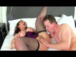 Pierced mature slut takes fat dick in both holes