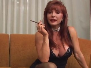 Red-haired cougar With XXL boobies fellates And porks