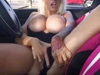 UK Chav Milf Slut Fingering In Car Park Public