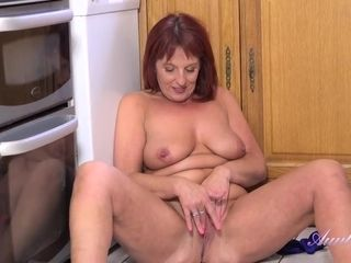 Beau Diamonds is masturbating like crazy in the kitchen and trying not to moan too loud