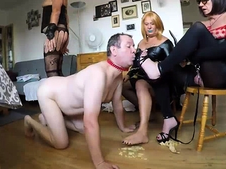 Nasty nasty sole worship female dom bang-out