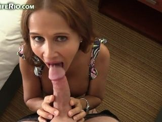 Yummy cougar does blow oral and gets screwed by humungous spear