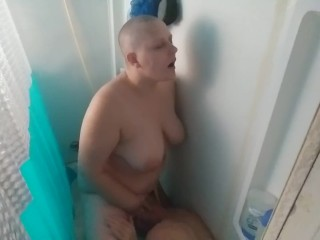 Banging his smoothly-shaven head