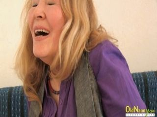 OldNannY insatiable Mature female Alone and with playmate