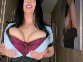 'Sha Rizel is your busty police woman who loves to show her boobs'
