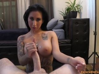Lily Lane In Inked Babe Playing With Prick