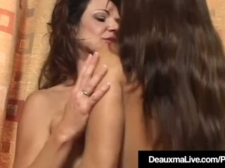 Huge-boobed milfs Deauxma & Goldie Blair Compare Their ample bosoms