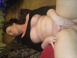 Big-boobed cougar tugging And splooging For Her colleague