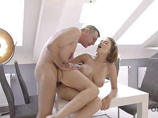OLD4K. Daddy knew the finest way to relieve ultra-cute gf with..