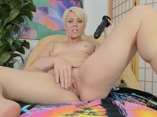 Brief Haired mummy Plays With ebony faux-cock