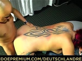 DEUTSCHLAND REPORT - inked sandy-haired in her 40s fellates weenie and rails it for fledgling German pornography