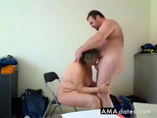 Housegirl makes a superb deep throat and gets boinked from behind