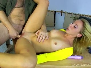 Leggy Blonde Takes Hard Cock In The Butt