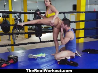 TeamSkeet - bosomy Sparring cloudy Richelle Takes Some load of shit Punches