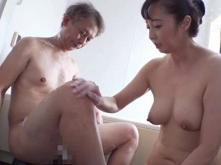 Huge-boobed chinese mature satiated 2 boys with orgy and fellatios