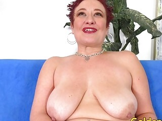 Mature Scarlett O Ryan heads horny While taunting Her nub with a wand