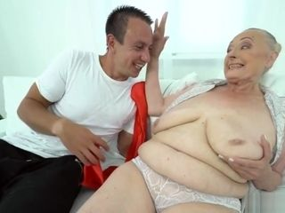 Splendid grannie With massive titties luvs stiff beef whistle