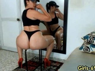 Titillating honey shaking and porking her booty